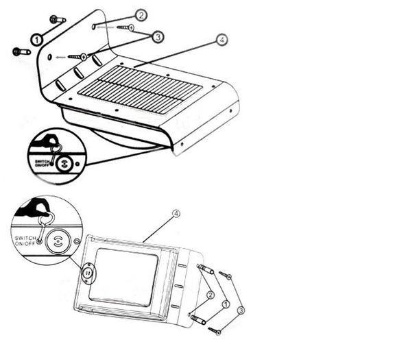 Led Lawn Light Waterproof Solar Pir Sound Sensor 16 Leds Outdoor