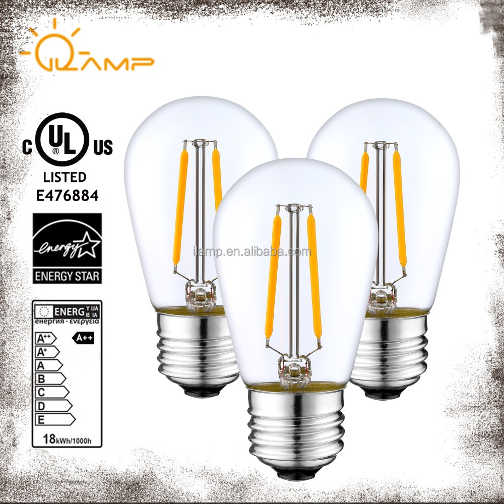 UL CUL LED Light S14 ST45 factory on sale led filament bulb