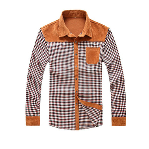 Fashionable Plaid Long Sleeve Casual Shirt for Men 2018 New Designs