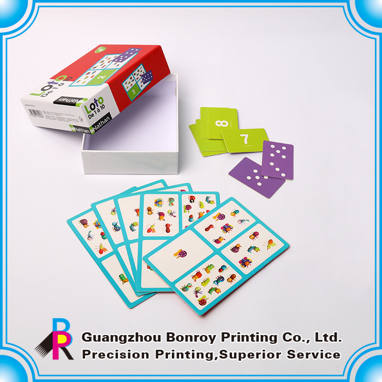 Custom printed Paper Educational flash cards