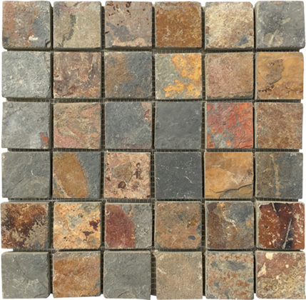 Old Ship Slate Floor Tiles Standard Size Mosaic