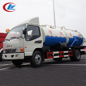 JAC 4*2 6CBM waste water suction vacuum sewage truck pump tanks for sale