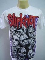 T-SHIRT ROCK BAND VINTAGE TOUR WHITE SLIPKNOT NEW