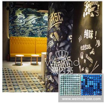 2016 New Shimmer Sequin Wall Art Diy Graffiti Wallpaper Decor - Buy ...