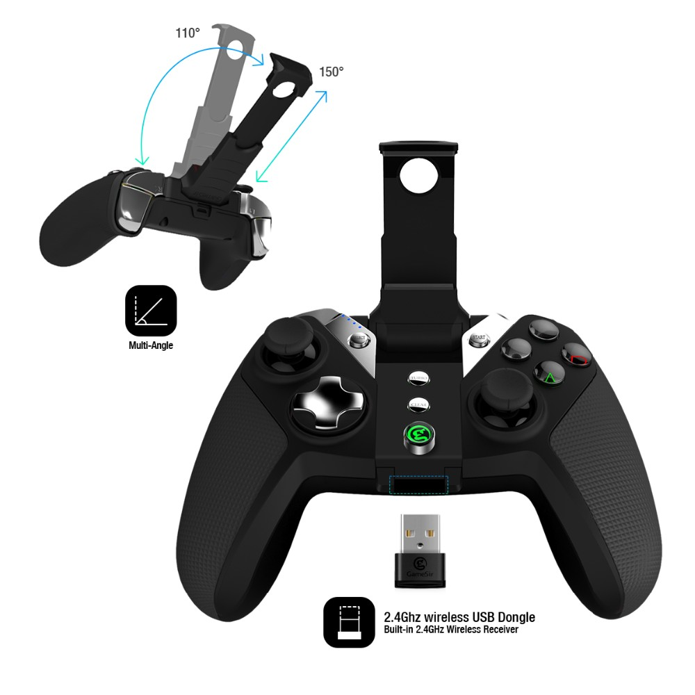 Gamesir G4s bluetooth and 2.4 GHz wireless joystick for PC / PS3 / smart TV and VR