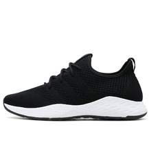 Wholesale 2018 spring and summer breathable net anti-odor men's shoes leisure flying weave sneakers