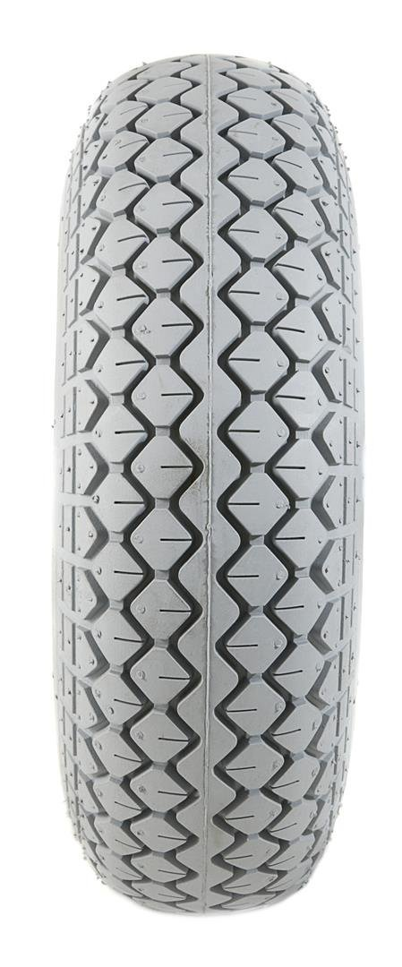 2 Grey Solid Block Tread Mobility Scooter Tyres 330 x 100 (4.00-5)