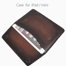 Genuine Leather tablet set for air ipad leather case for ipad/mini wholesale price