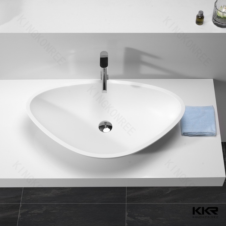 Acrylic Solid Surface Bathroom Table Top Round Wash Basin Type ...