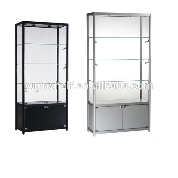 Showroom aluminium glass showcase design modern glass for Showcase designs for living room with glass