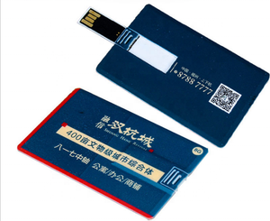 Promotional usb card flash drive credit card size with free full color logo printing