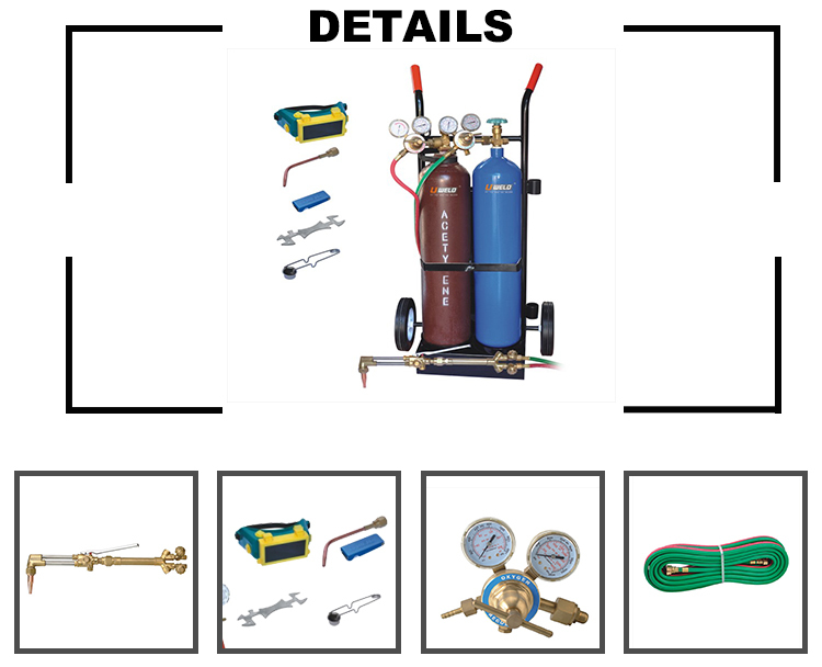 gas cutting brazing kit brazing solder welding set oxy acetylene welding  cutting kit