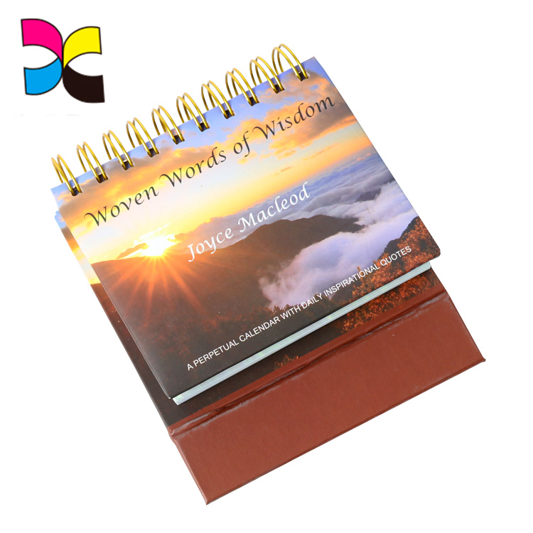 Cardboard recycled paper diary calendar stand desk calendar