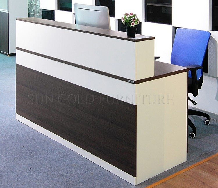 Wood Modern Office Reception Counter Desk Design Sz