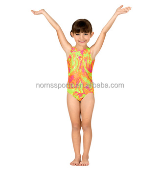 46350fce7 Lycra Dance Gymnastics Leotards Cute Kids Open Girls Gym Sportswear ...