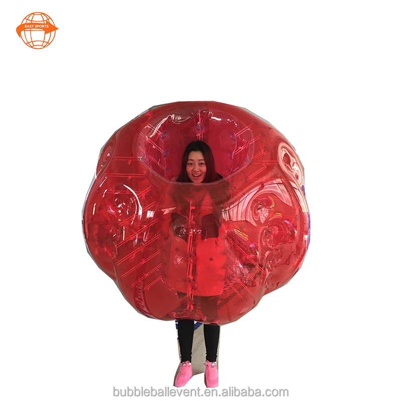PVC 1.5m <strong>Human</strong> Sized Soccer Bubble Ball / Football Inflatable Body Zorb Ball for Adult
