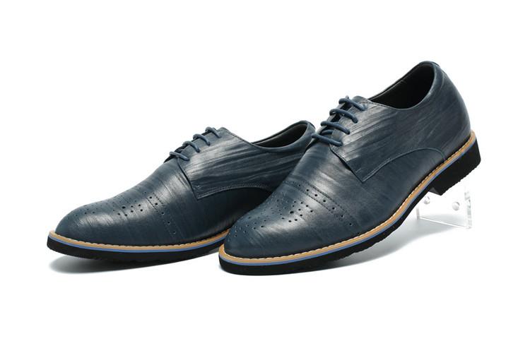 pavoGao LACE famosa clase marca cuero up Alta Hombre calidad moda Zapatos Zapatos azul gvUwpxq