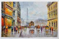 sell art online knife painting paris street oil paintings