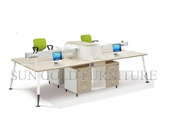 Modern Simple Office Counter Table Design Workstation Office Desk For 4  People(SZ WSL332