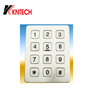 K6 stainless steel communication device pad 12 keys metal button telephone silicon keypad