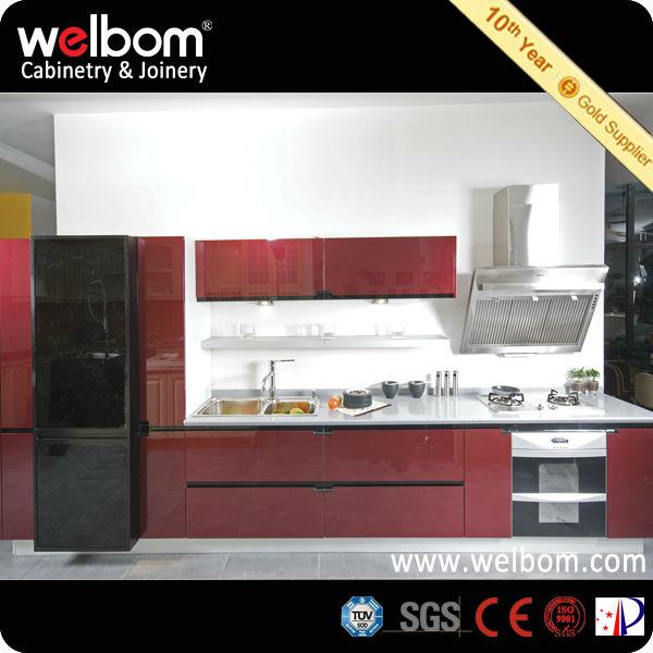 2014 De Color Vino Tinto Diseños de Gabinete de Cocina-Cocinas ...