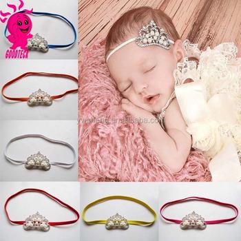 Neueste Niedlich Kristall Perle Mädchen Krone Stirnband Neugeborenen ...