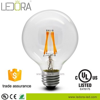 G125 G95 G80 E27 Dimmable Led Filament Bulb 4w Light 360 Degree ...