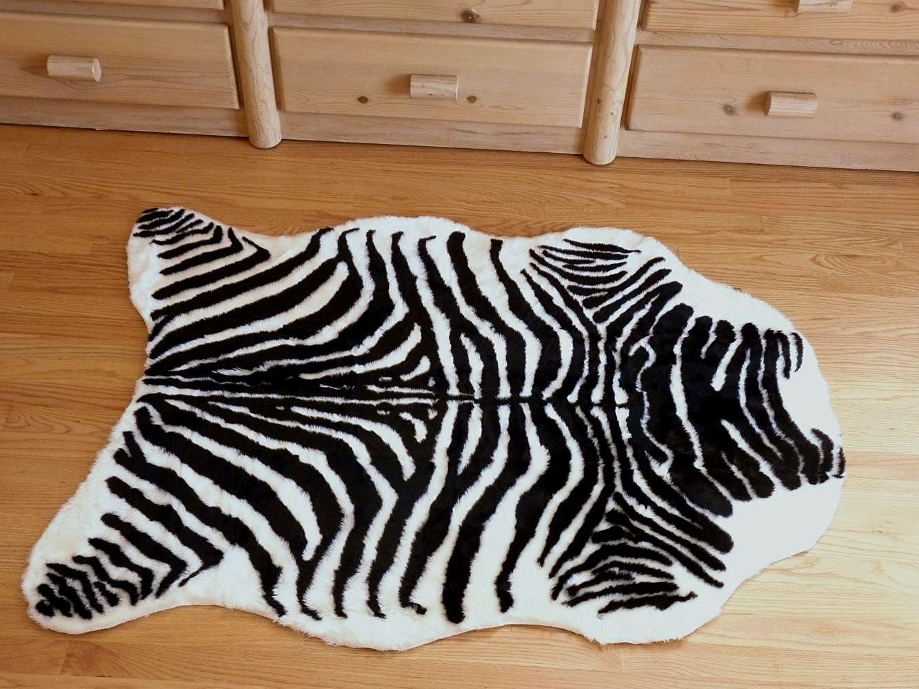 Faux Zebra Hide Rug Find