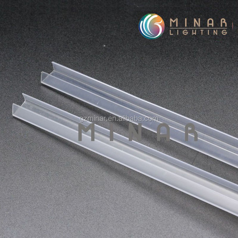 side glow fiber optic channel for swimming pool decoration