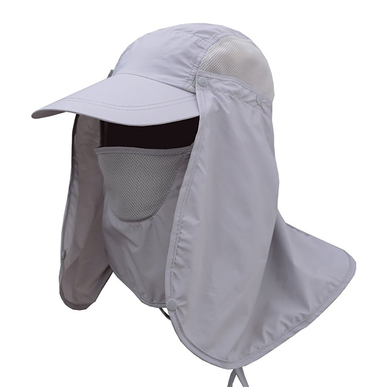 2e273795 ESHOO Fashion Summer Outdoor Sun Protection Fishing Cap Neck Face Flap Hat  Wide Brim