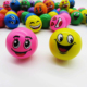 Wholesale custom size emoticon printed funny face stress 45mm 32mm rubber bouncing ball