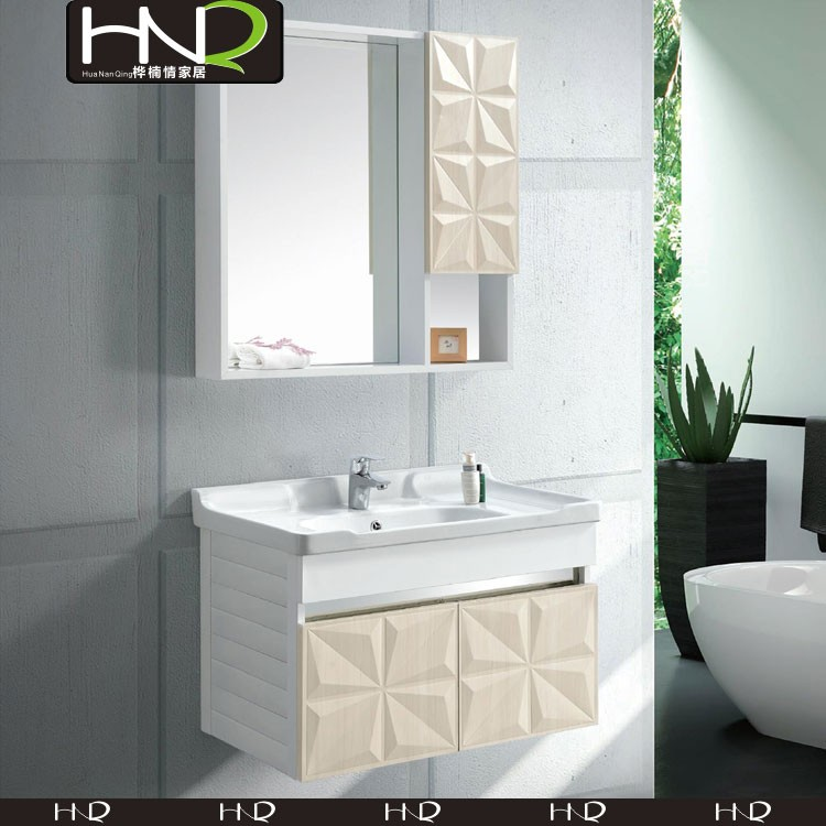 Cheap Bathroom Cabinet Embossed Finish All In One Bathroom Vanity ...