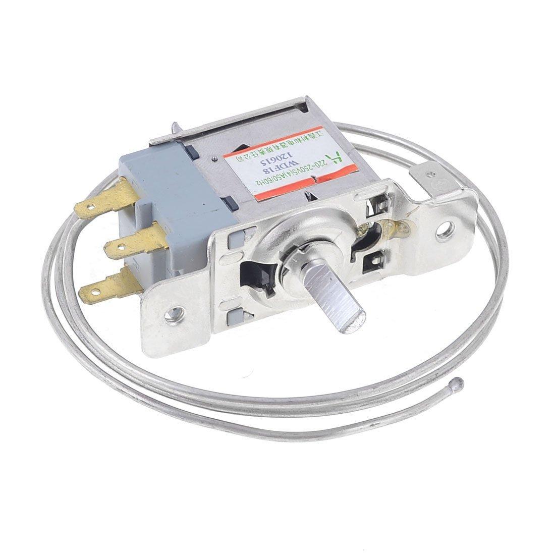 Refrigerator Thermostat - SODIAL(R) AC 220V-250V Volt 5(4)A 3-Pin 5.8mm Dia Shaft Refrigerator Thermostat