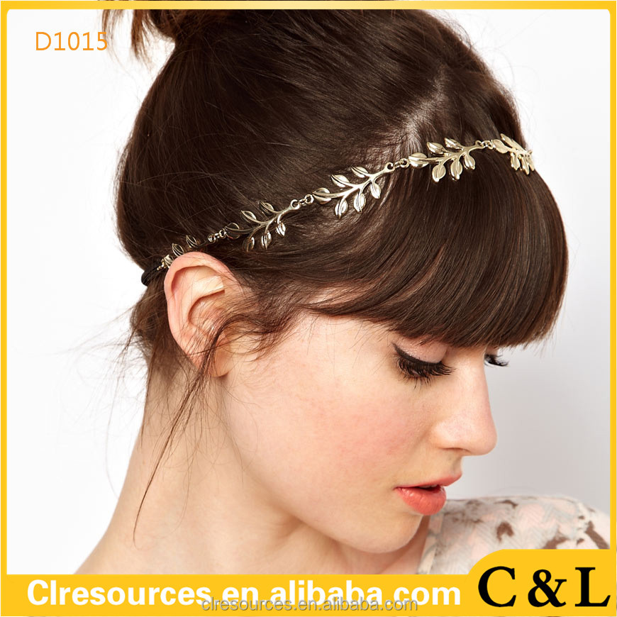 Elegant beautiful leaf women hair accessory hair bands