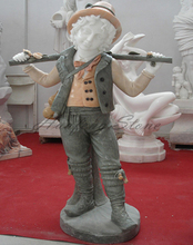 Beautiful life size little boy garden statues