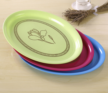 17 Inches Oval Plastic Plate For Restaurant - Buy Plastic Plate For ...