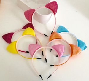 NEW Beautiful Glitter Cat Ears Head Band 6 Colours Party KK367