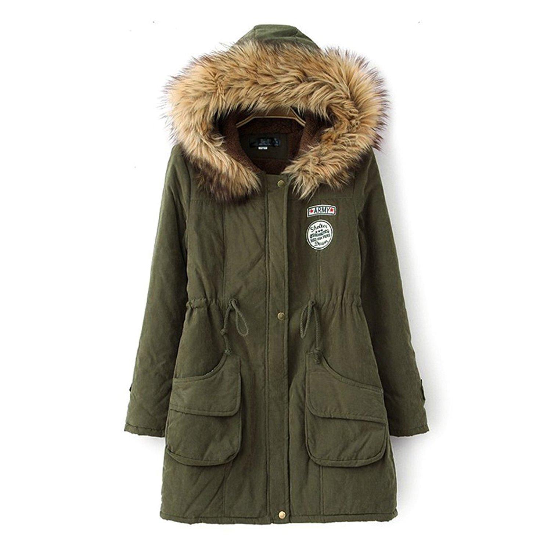 45abad85 Buy Kangwoo Womens Faux Fur Hooded Parka Jacket Fleece Lined Winter ...