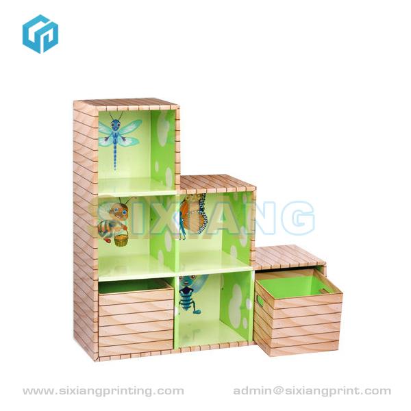 Reciclado plegable muebles de cart n corrugado estantes de for Estantes de carton