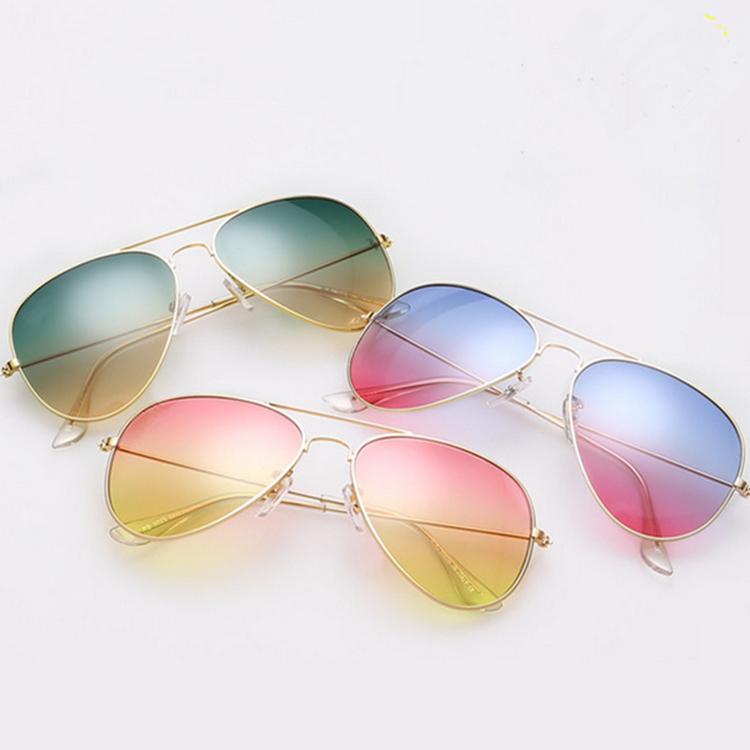 317e8b8e87c Get Quotations · Brand Design Gradient Color Full logo Aviator Women Brand Sunglasses  Women Men Mirror Sun Glasses UV400
