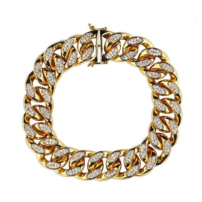 Hiphop Jewelry Men14k Gold Chain Gold Cuban Link Chains