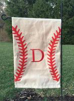 DEMI Wholesale game day personalized custom monogram baseball garden flag
