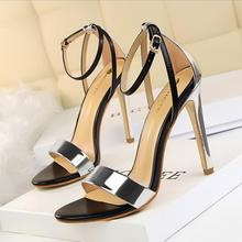Limited time discount summer fashion women dress shoes a word type strap sexy high heel shoes