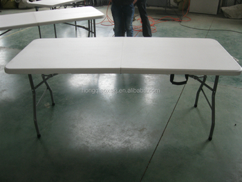 Outdoor Plastic Foldable Tablehdpe Empty Table Panel With Stainless - 6 ft stainless steel table