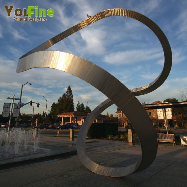 Outdoor Large Abstract eight shape Stainless Steel Sculpture