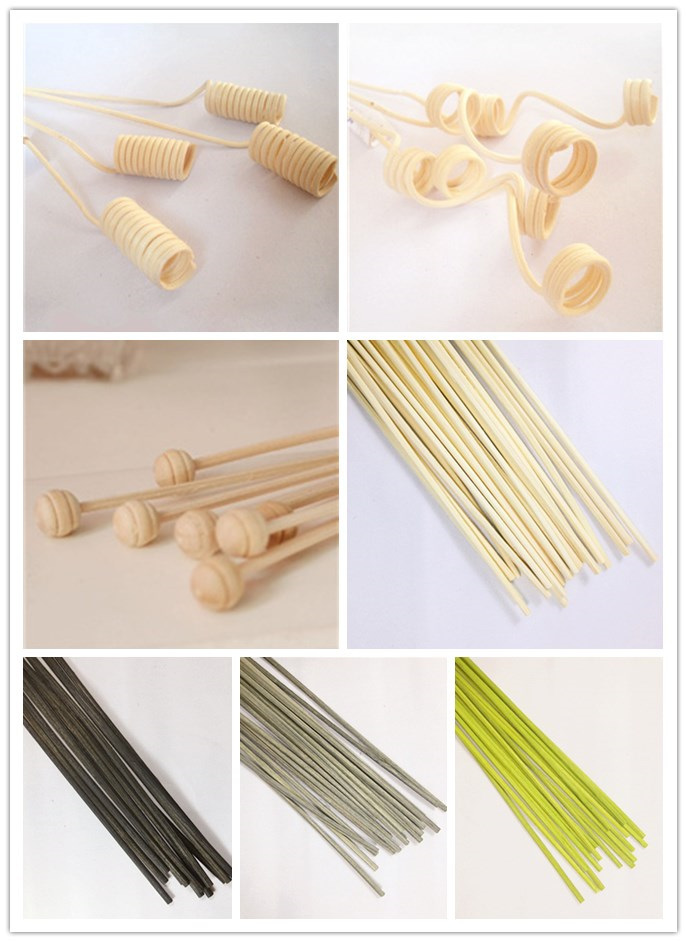 Reed stick with wooden decoration