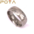 POYA Jewelry Denuine Damascus Steel Ring 8mm Domed
