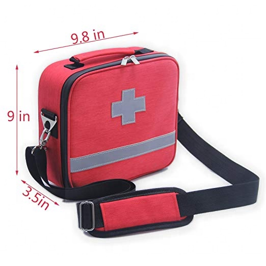 Professional Facility Waterproof Premium Nylon First Aid Bag with EVA Separator