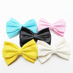 New Arrival Luxe Layered leather Bow Large Barrette