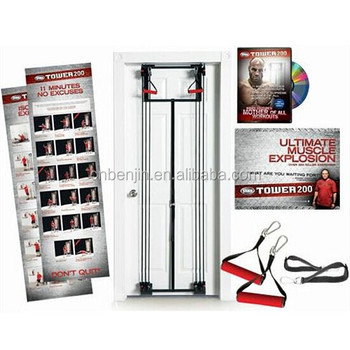Tower 200 Full Body Door Exercise Gym with Resistance Training Cords  sc 1 th 225 & Tower 200 Full Body Door Exercise Gym With Resistance Training Cords ...